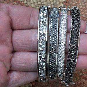 Jewelry - Set Of 4 Gorgeous Bangle Bracelets NWOT